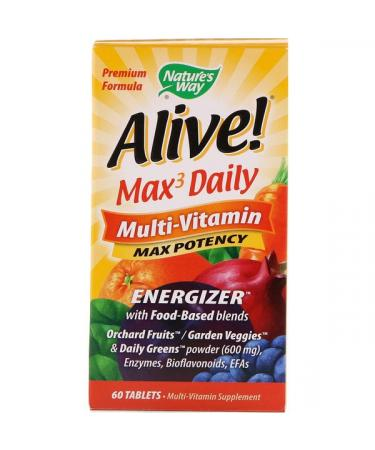 Nature's Way Alive! Max3 Daily Multi-Vitamin 60 Tablets