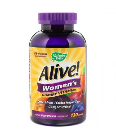 Nature's Way Alive! Women's Gummy Vitamins Great Fruit Flavors 130 Gummies