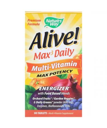 Nature's Way Alive! Max3 Daily Multi-Vitamin 90 Tablets