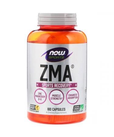 Now Foods Sports ZMA Sports Recovery 180 Capsules