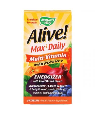 Nature's Way Alive! Max3 Daily Multi-Vitamin 30 Tablets