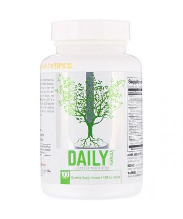 Universal Nutrition Daily Formula The Everyday Multi Vitamin  100 Tablets