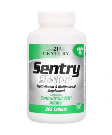 21st Century Sentry Senior Multivitamin & Multimineral Supplement Adults 50+ 265 Tablets