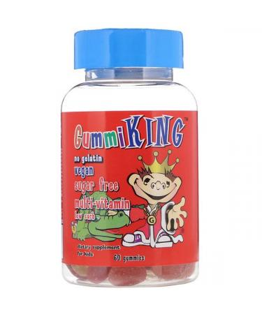 GummiKing Sugar-Free Multi-Vitamin For Kids 60 Gummies