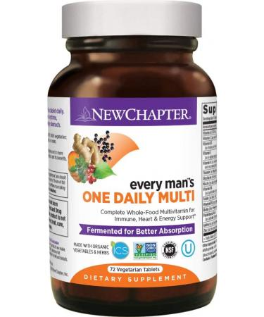 New Chapter Men's Multivitamin Every Man's One Daily - 72 Capsules