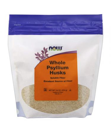 Now Foods Whole Psyllium Husks 16 oz (454 g)