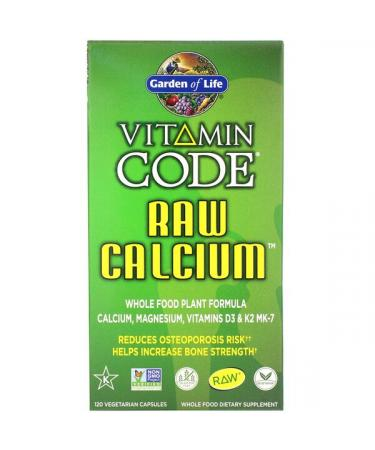 Garden of Life Vitamin Code RAW Calcium 120 Vegetarian Capsules