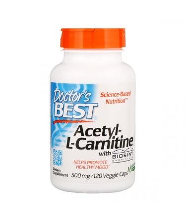 Doctor's Best Acetyl-L-Carnitine with Biosint Carnitines 500 mg 120 Veggie Caps
