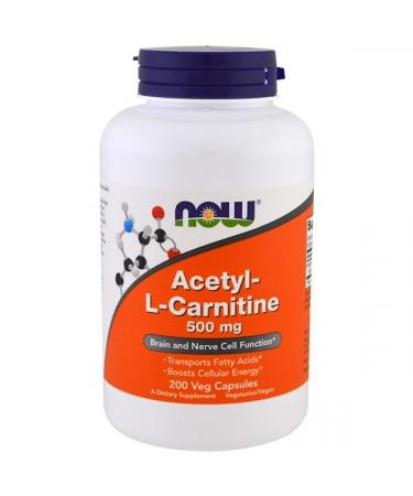 Now Foods Acetyl-L-Carnitine 500 mg 200 Veg Capsules