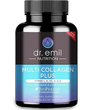 Dr. Emil Multi Collagen Pills Anti-Aging Hair Skin Nails and Joints -90 Capsules