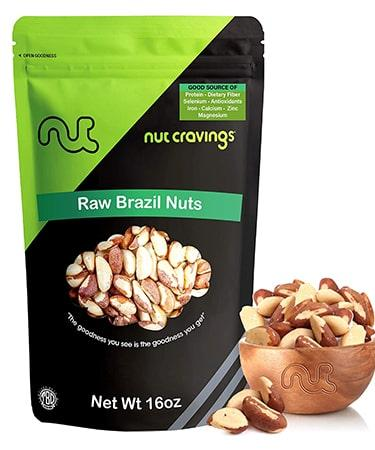 Nut Cravings Raw Brazil Nuts - Unsalted - 1 Lb. (453 grams)