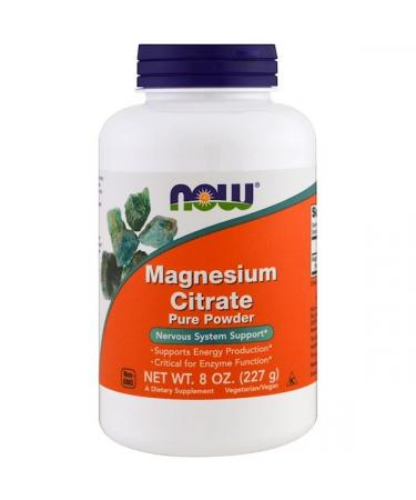 Now Foods Magnesium Citrate Pure Powder 8 oz (227 g)