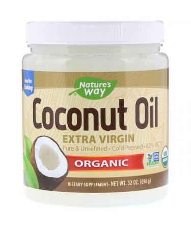 Nature's Way Organic Coconut Oil Extra Virgin 2 lbs (896 g)