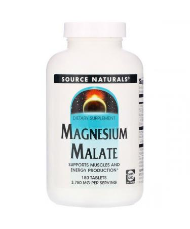 Source Naturals Magnesium Malate 3750 mg 180 Tablets
