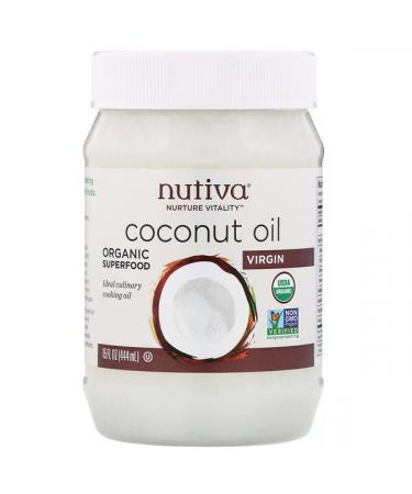 Nutiva Organic Coconut Oil Virgin 15 fl oz (444 ml)