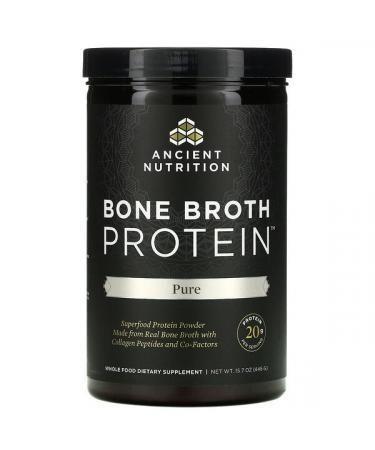 Dr. Axe / Ancient Nutrition Bone Broth Protein Pure 15.7 oz. (446 g)