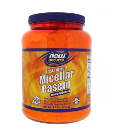 Now Foods Sports Micellar Casein Instantized Natural Unflavored 1.8 lbs (816 g)