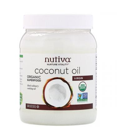 Nutiva Organic Coconut Oil Virgin 54 fl oz (1.6 L)