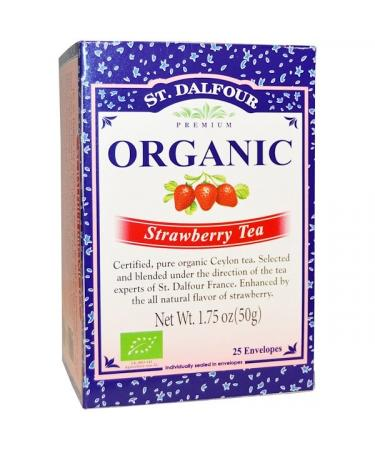 St. Dalfour Organic Strawberry Tea 25 Envelopes 1.75 oz (50 g)