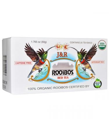 J&R Port Trading Co. J&R Rooibos Red Tea Caffeine Free 20 Tea Bags 1.765 oz (50 g)