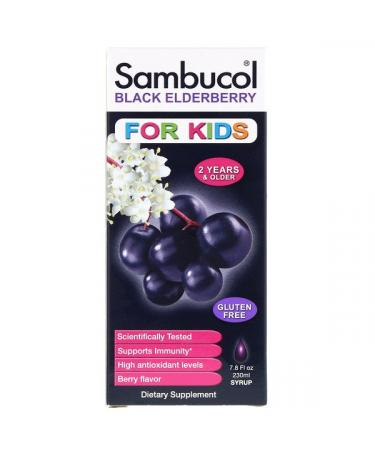 Sambucol Black Elderberry Syrup For Kids Berry Flavor 7.8 fl oz (230 ml)