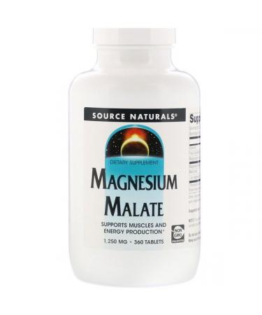 Source Naturals Magnesium Malate 1250 mg 360 Tablets