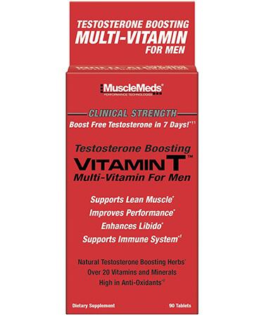 MuscleMeds Vitamin T Enhances Testosterone Muscle Building - 90 Capsules