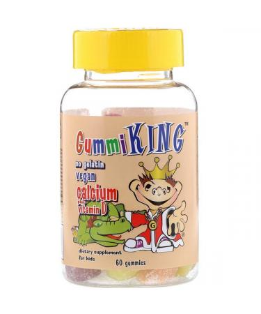 GummiKing Calcium Plus Vitamin D for Kids 60 Gummies