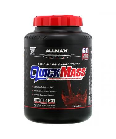 ALLMAX Nutrition QuickMass Rapid Mass Gain Catalyst Chocolate 6 lbs (2.72 kg)