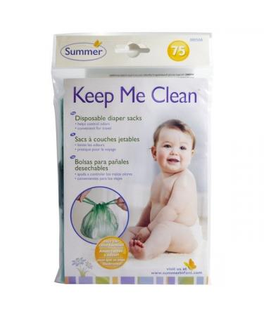 Summer Infant Keep Me Clean Disposable Diaper Sacks 75 Count