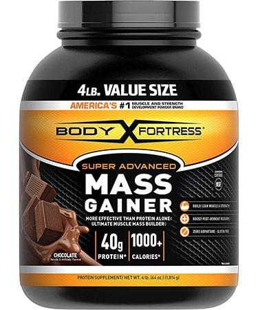 Body Fortress Super Advanced Whey Protein Powder Mass Gainer - Chocolate - 4 lbs