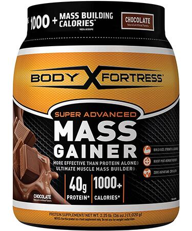 Body Fortress Super Advanced Whey Protein Powder Mass Gainer - Chocolate - 2.25 lbs