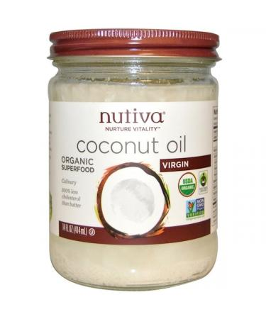 Nutiva Organic Coconut Oil Virgin 14 fl oz (414 ml)