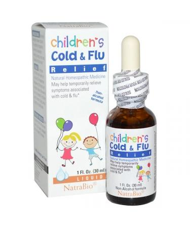 NatraBio Children's Cold & Flu Relief 1 fl oz (30 ml)