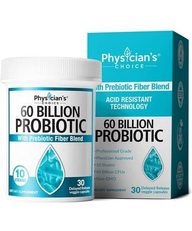 Probiotics 60 Billion CFU - Dr. Approved Probiotics for Women Probiotics for Men and Adults Natura 30 Capsules