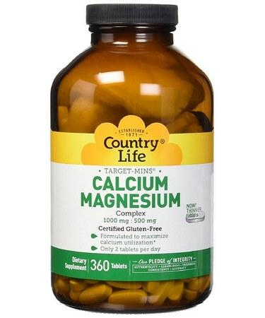 Country Life Target-Mins Calcium-Magnesium Complex 360 Tablets