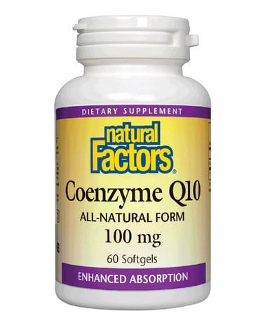 Natural Factors Coenzyme Q10 100 mg 60 Softgels