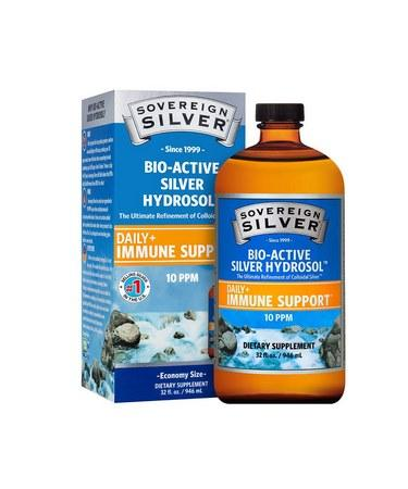 Sovereign Silver Bio-Active Silver Hydrosol for Immune Support -32oz