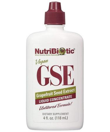 NutriBiotic Vegan GSE Grapefruit Seed Extract Liquid Concentrate 4 fl oz (118 ml)