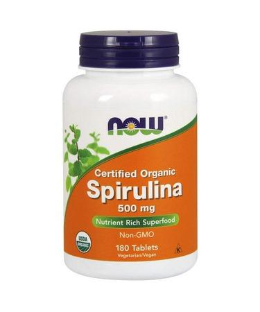 Now Foods Certified Organic Spirulina 500 mg 180 Tablets