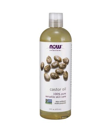 Now Foods Solutions Castor Oil 16 fl oz (473 ml)