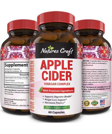 Bio Sense Natures Craft Apple Cider Vinegar Weight Loss  Booster - 60 Capsules