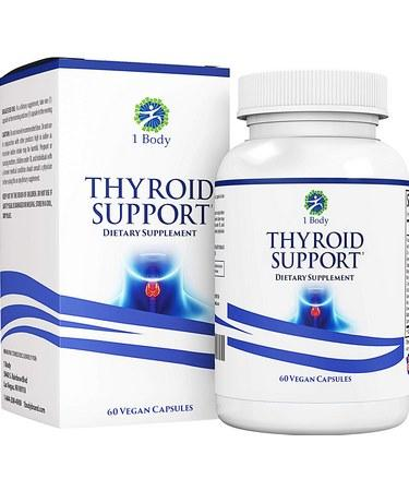 Thyroid Support Supplement with Iodine - 60 Capsules
