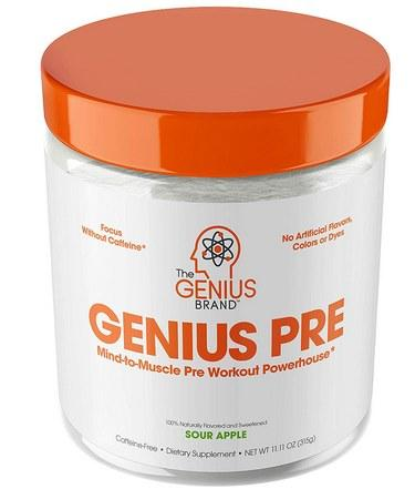Genius Pre Workout Powder - Sour Apple – 20 Servings