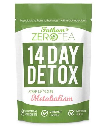 FATBOM Zero Tea 14 Day Detox Tea Weight Loss- Herbal Tea
