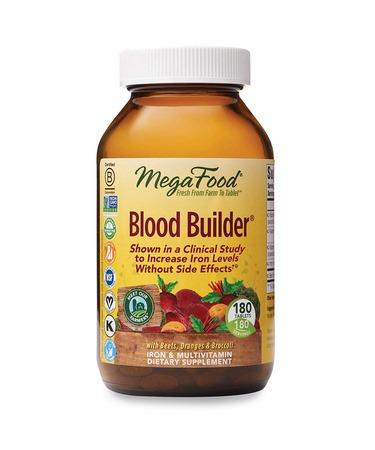 MegaFood Blood Builder Daily Iron Supplement and Multivitamin 180 Tablets