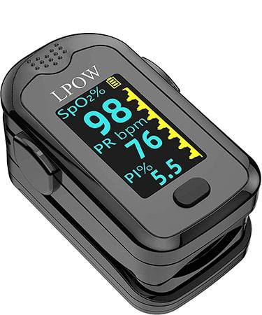 ANKOVO Pulse Oximeter Fingertip, Blood Oxygen Saturation Monitor for Pulse Rate
