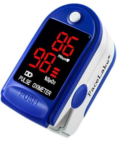 FaceLake FL400 Pulse Oximeter Fingertip with Carrying Case - Blue