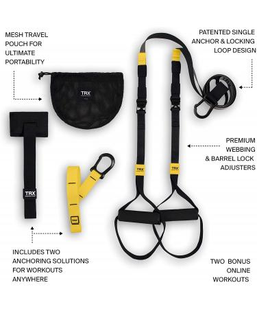 TRX GO Suspension Training: Bodyweight Fitness Resistance Training Workout Poster Included