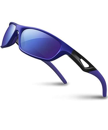 RIVBOS Polarized Sports Sunglasses Driving shades For Men Unbreakable Frame